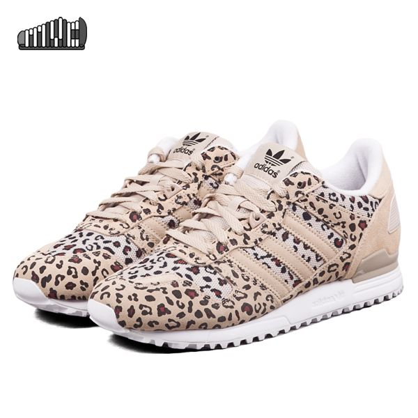 ADIDAS ORIGINALS ZX 700 DUST SAND BLACK LEOPARD BEIGE B34330 $150