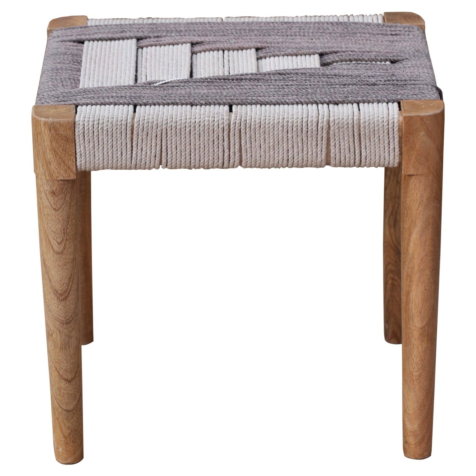 Put your feet up and relax with the Woven Accent Stool