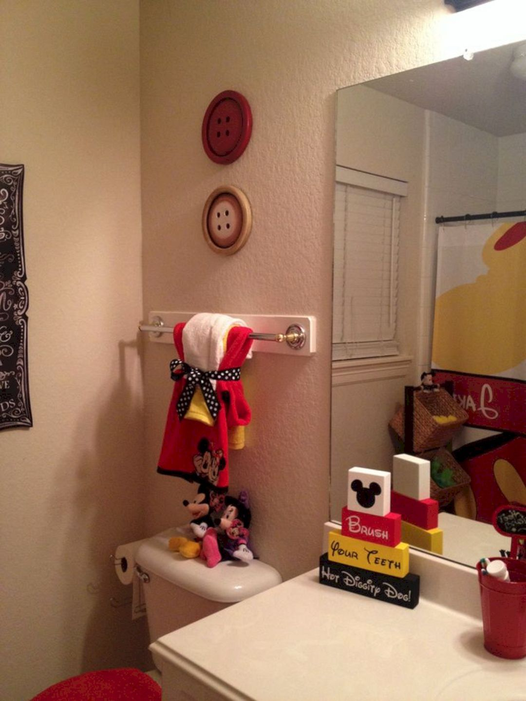35 Best Mickey Mouse Bathroom Collection Ideas For Your Kids Bathroom Freshouz Com Mickey Mouse Bathroom Disney Bathroom Disney Home Decor