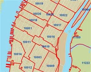NYC Zip Code map   Bing images | WALK: MANHATTAN | Pinterest | Map