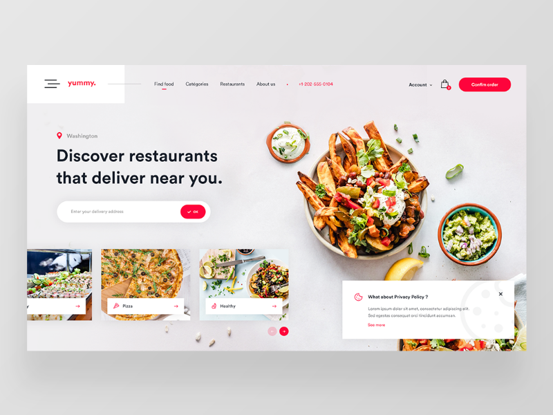 Yummy Food Delivery Website Concept Food Delivery Website Food Website Design Food Web Design