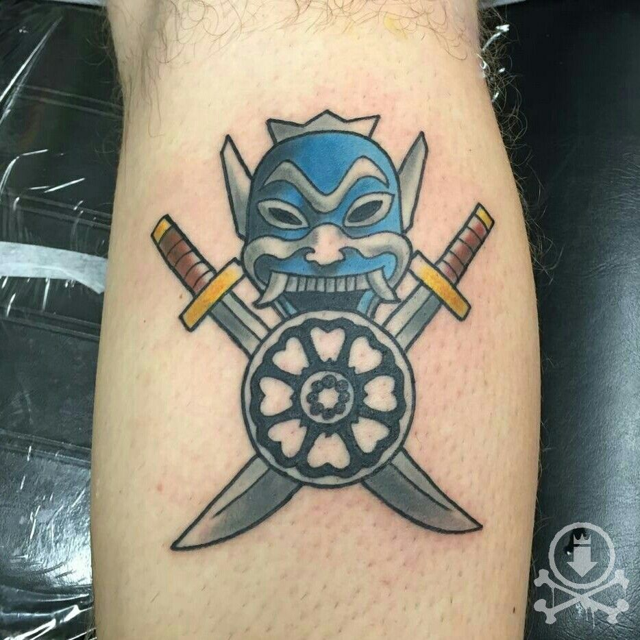 Blue spirit from the Avatar the Last Airbender tattoo by