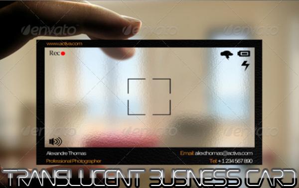print templates translucent photographer business card