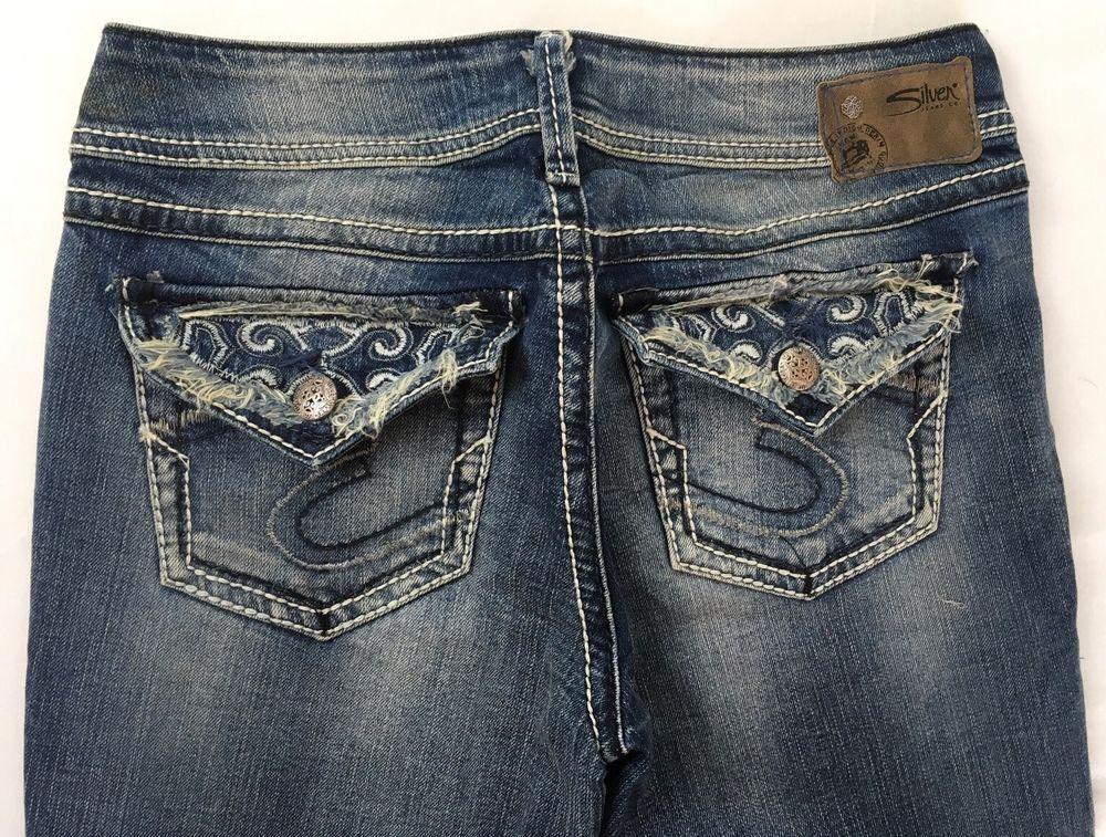 SILVER JEANS Cheap Sale Flap Suki Surplus Flap Bootcut Jean 26,27,28,30,32,34 #SilverJeans #BootCut