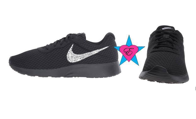 Black Sole Glitter Sneakers Bling Nike