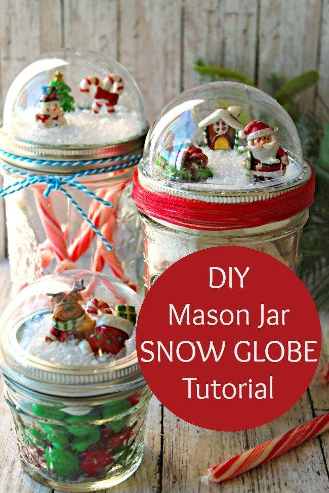 Photo of DIY Mason Jar Snow Globes Tutorial