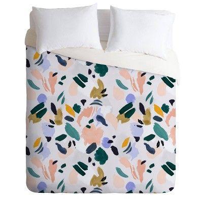 Queen Full Marta Barragan Camarasa Terrazzo Abstract Brushstrokes Duvet Set Deny Designs In 2021 Duvet Cover Sets Duvet Covers Textured Duvet Cover