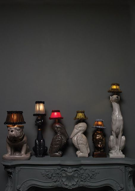 Slightly creepy lamp collection