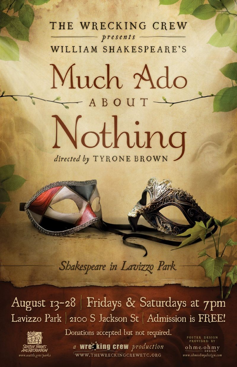 much ado about nothing act v Written around the middle of his career, much ado about nothing is one of  shakespeare's great festive comedies the men are back from the.