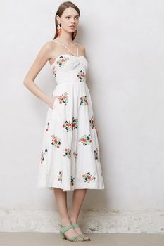 Floristitched Midi Dress from Anthropologie on Catalog Spree, my personal digital mall.