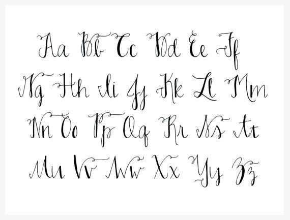 Custom Handwritten Modern Calligraphy Address by