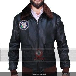 Air Force One Harrison Ford Leather Bomber Jacket