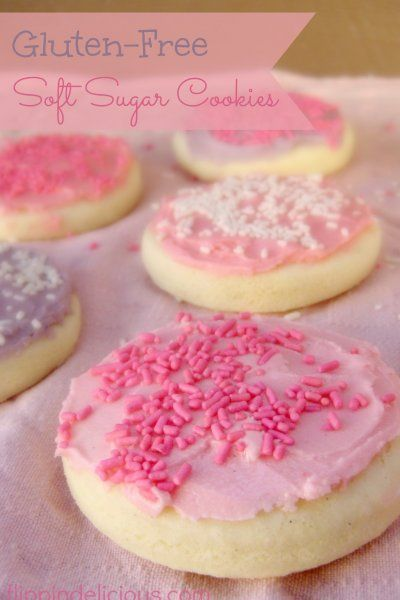 SOFT gluten free sugar cookies! Sometimes gluten free and soft don't go well together. :)