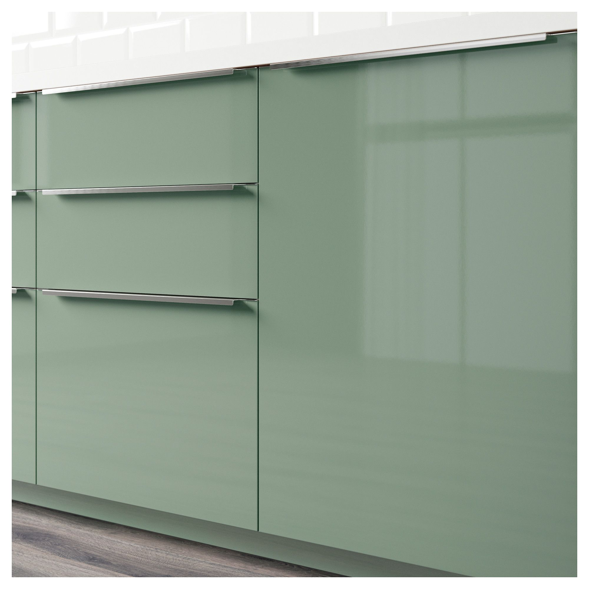 Kallarp Gris Turquoise Kitchen Kallarp Ikea Kitchen In 2019 High Gloss