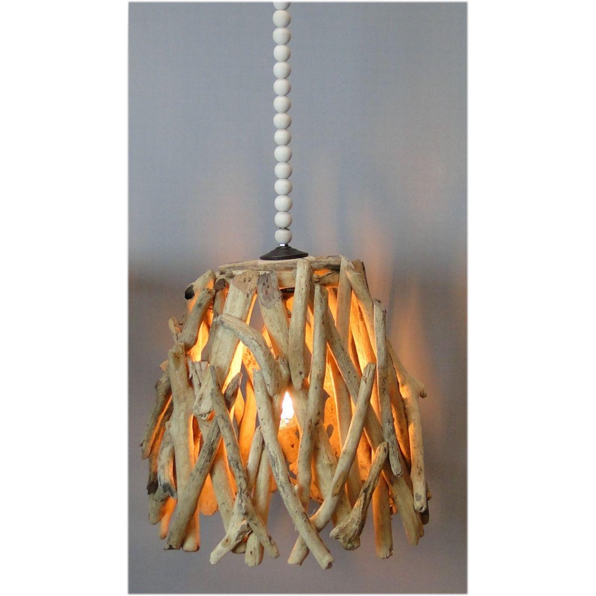 driftwood pendant light nautical rope driftwood pendant light fixture hand made natural wood bead medium chandelier