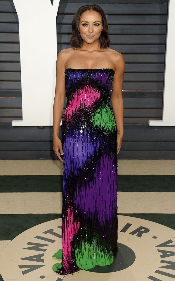 Kat Graham attends the 2017 Vanity Fair Oscar Party hosted by Graydon Carter at Wallis Annenberg Center for the Performing Arts on February 26, 2017 in Beverly Hills, California.