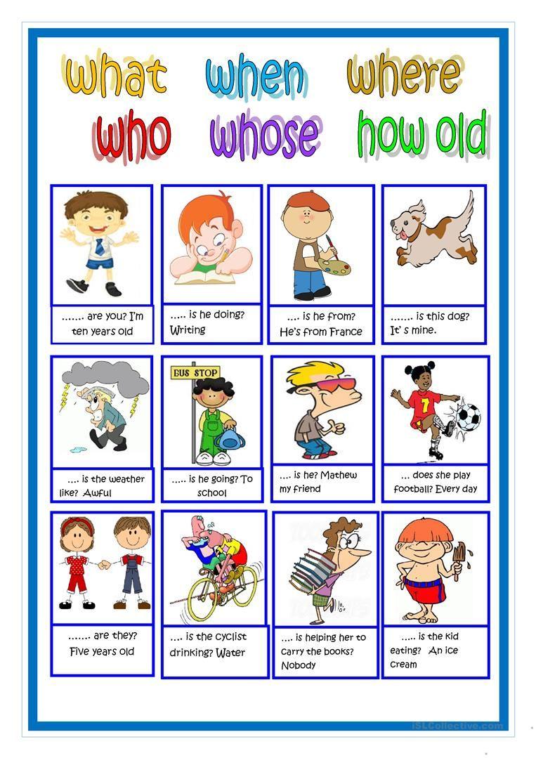 Interrogatives Worksheet Free Esl Printable Worksheets Made By Teachers Speaking Activities English Learning English For Kids English Worksheets For Kids [ 1079 x 763 Pixel ]