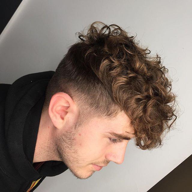 Men Perm Fade Men Perm Long Hair Fade Permed Hairstyles Short Permed Hair