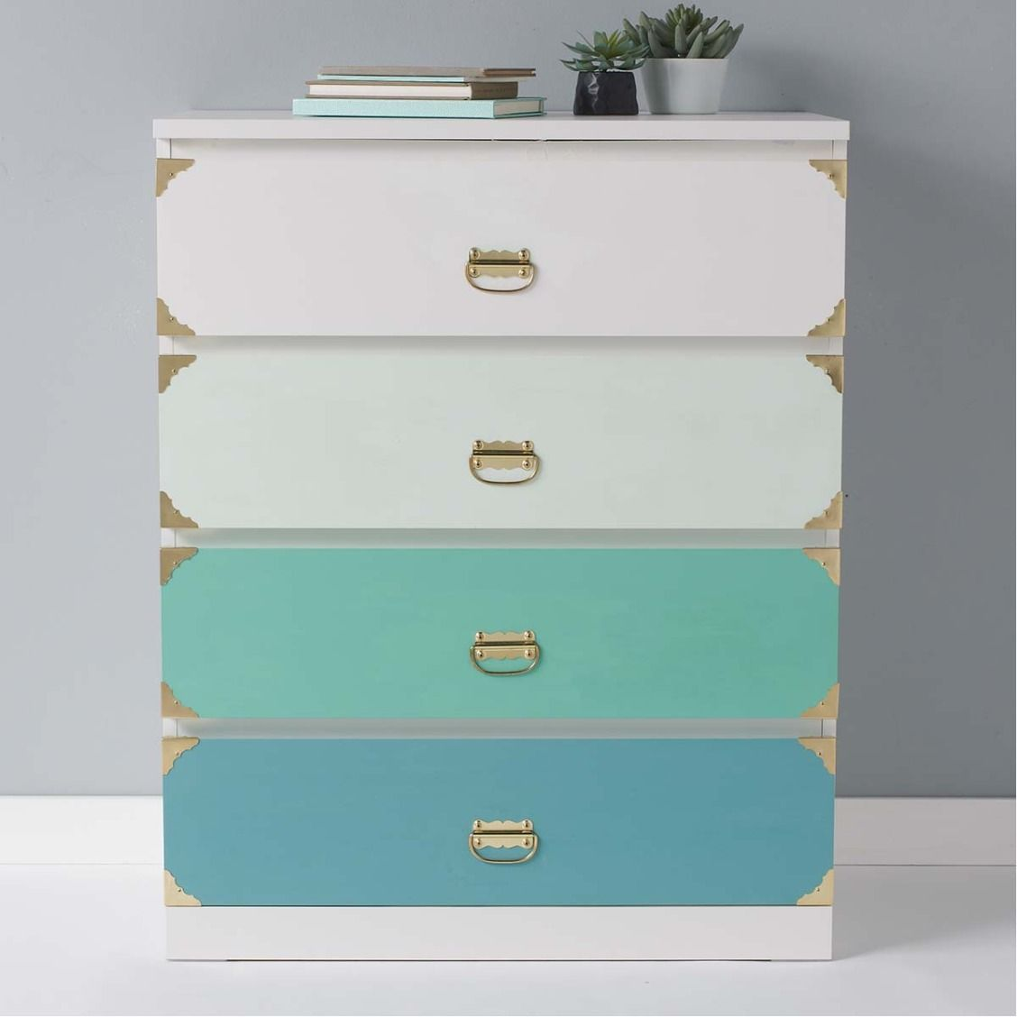 Ombre Four-Drawer Chest made with Martha Stewart Home Decor paint ...