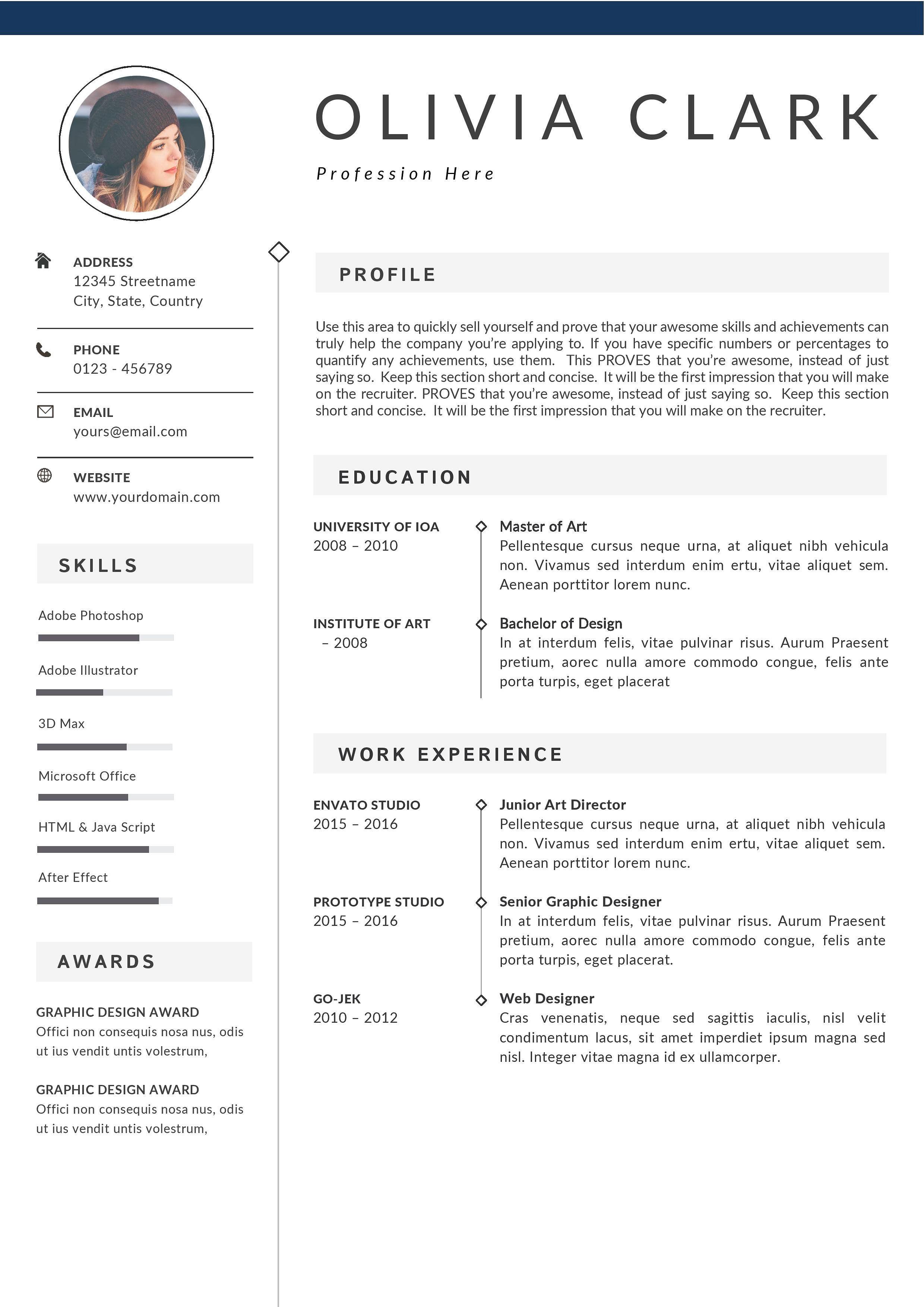 Updated Clean Resume Template Cv Clean Resume Template Clean
