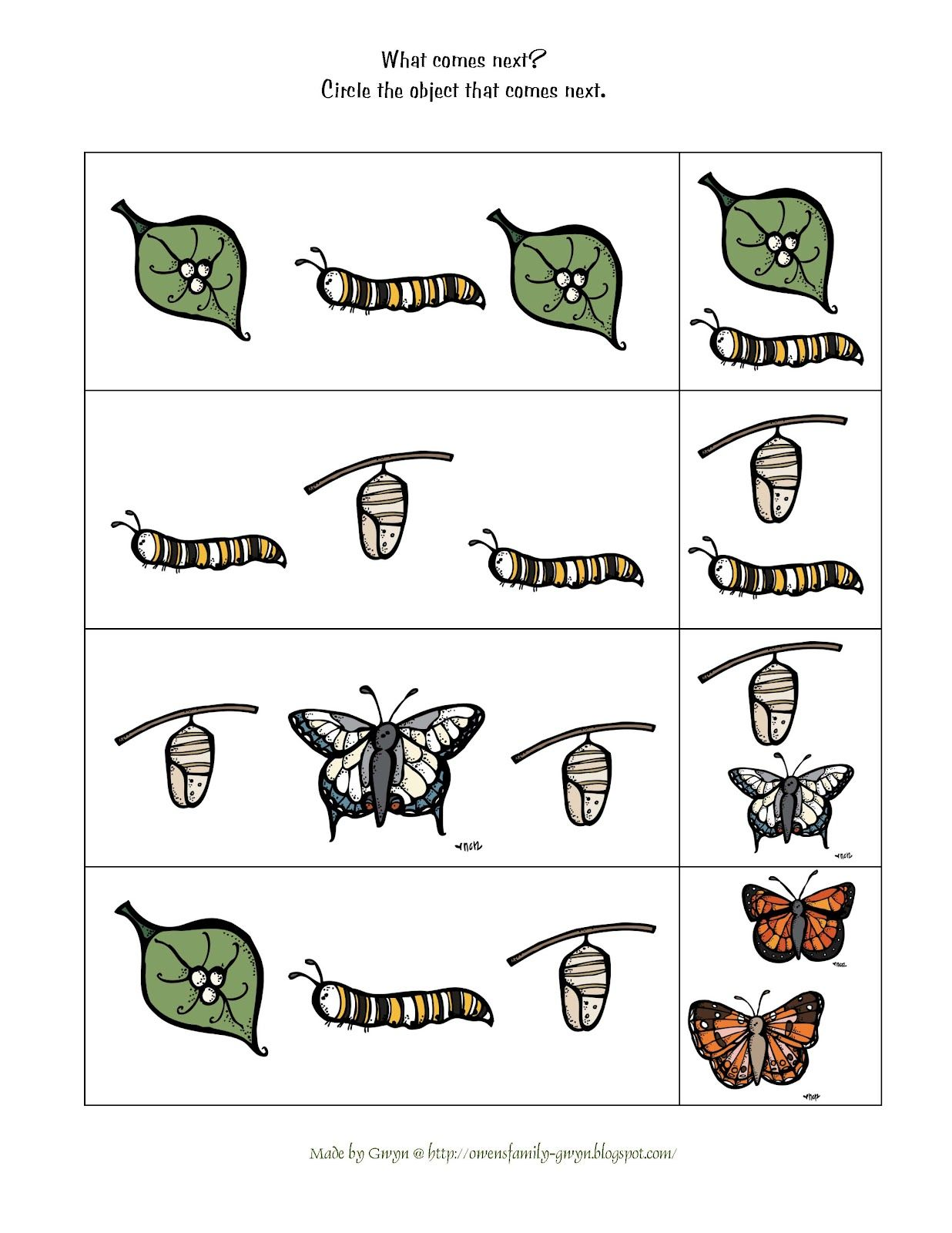 Preschool Printables Butterfly Life Cycle Printable
