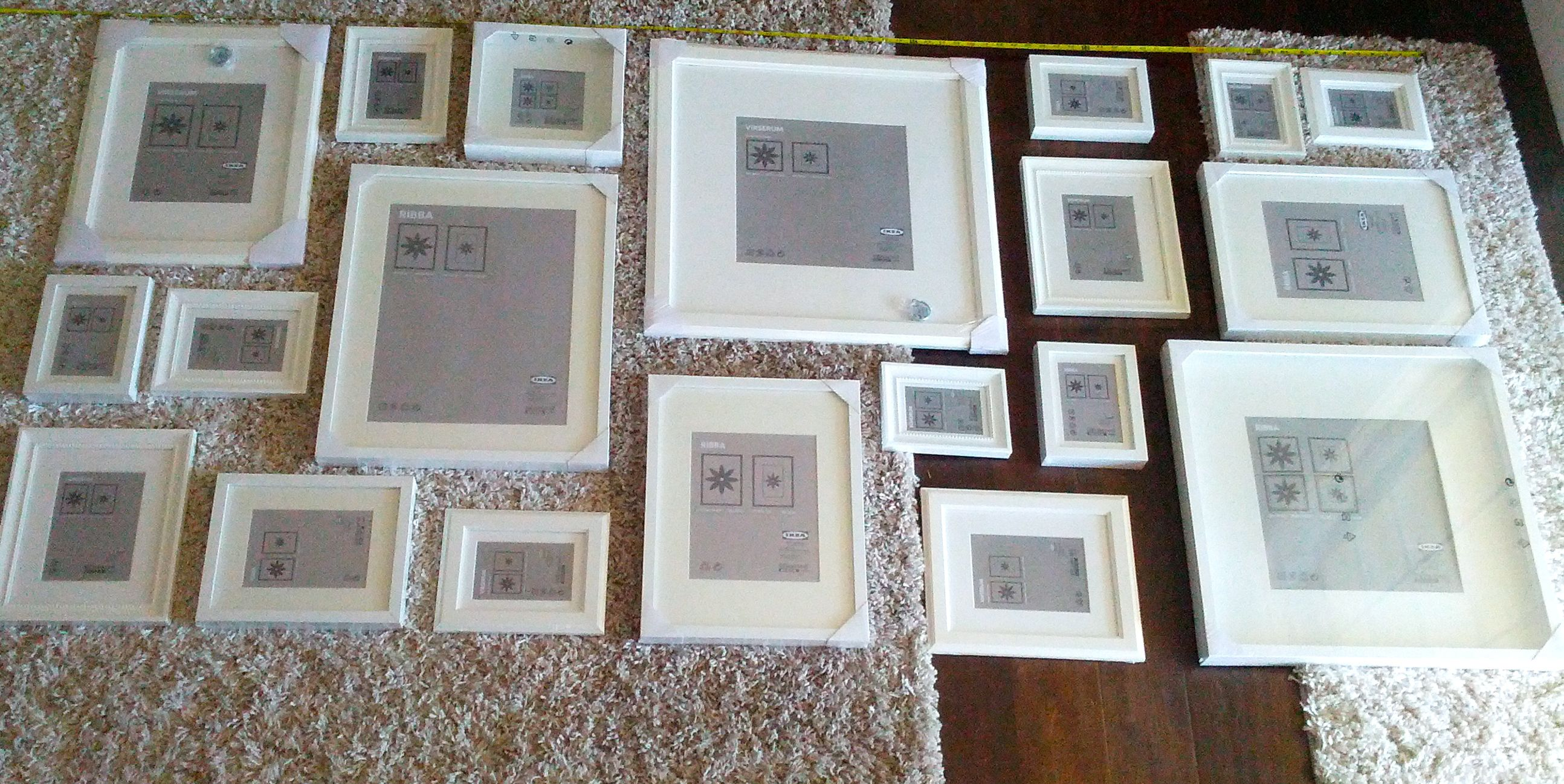 Our own personal gallery frame layout gallery wall and for Picture wall layout