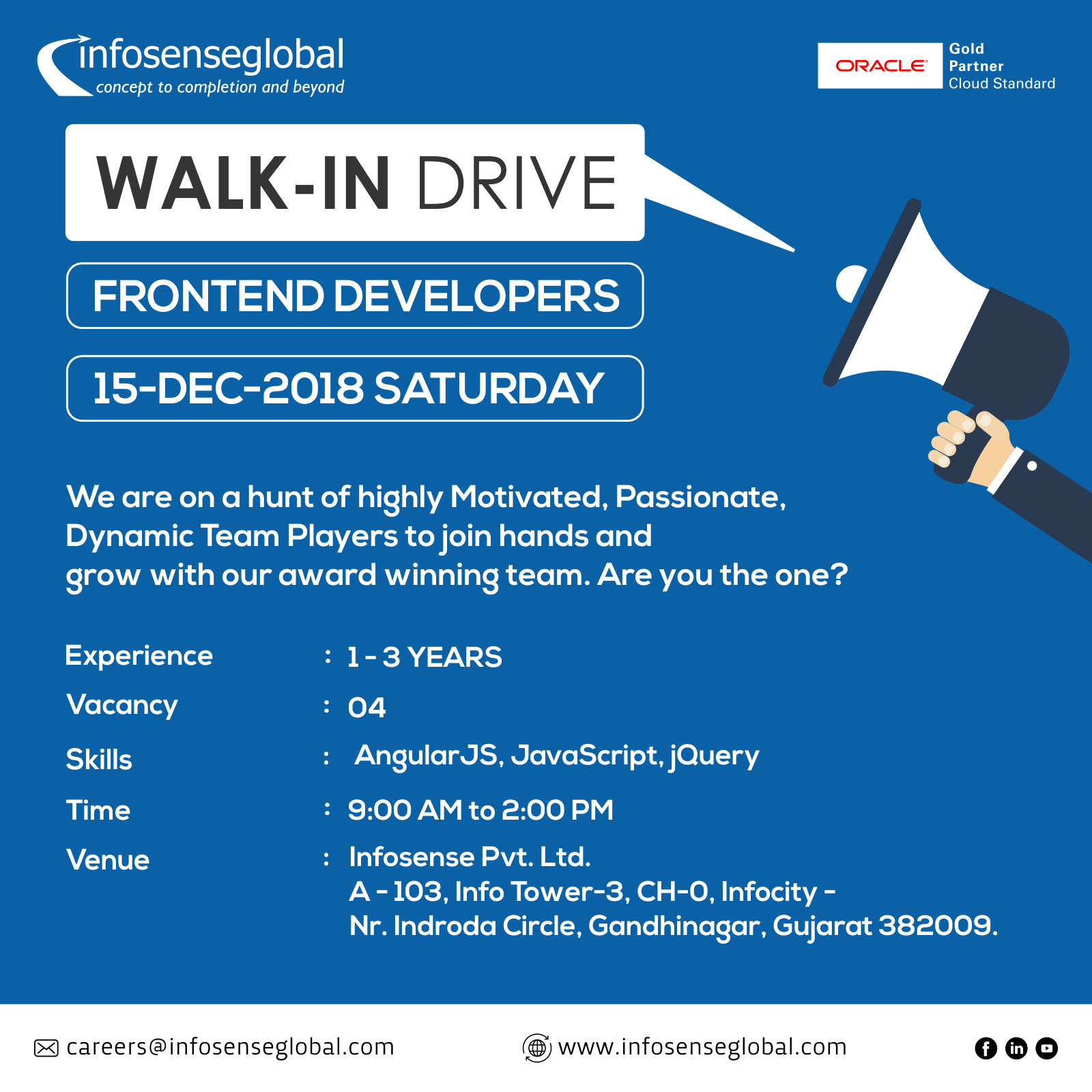 Walk In Drive For Frontend Developers Job Opening Frontend Developer Development