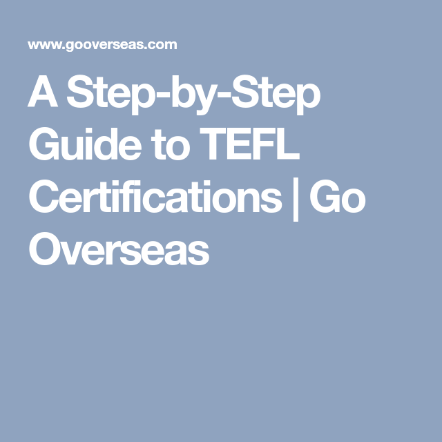 How To Choose The Best Tefl Certification For Your Career English