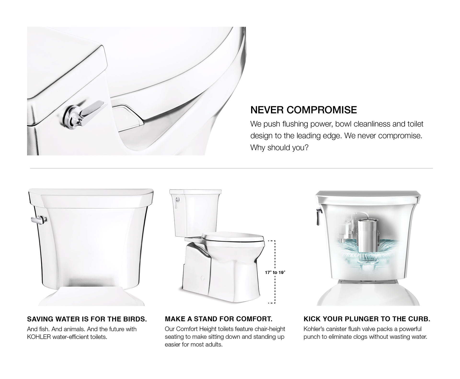 Kohler Adair White Watersense Elongated Chair Height Toilet 12 In Rough In Size Ada Compliant Lowes Com Water Sense Kohler Chair Height