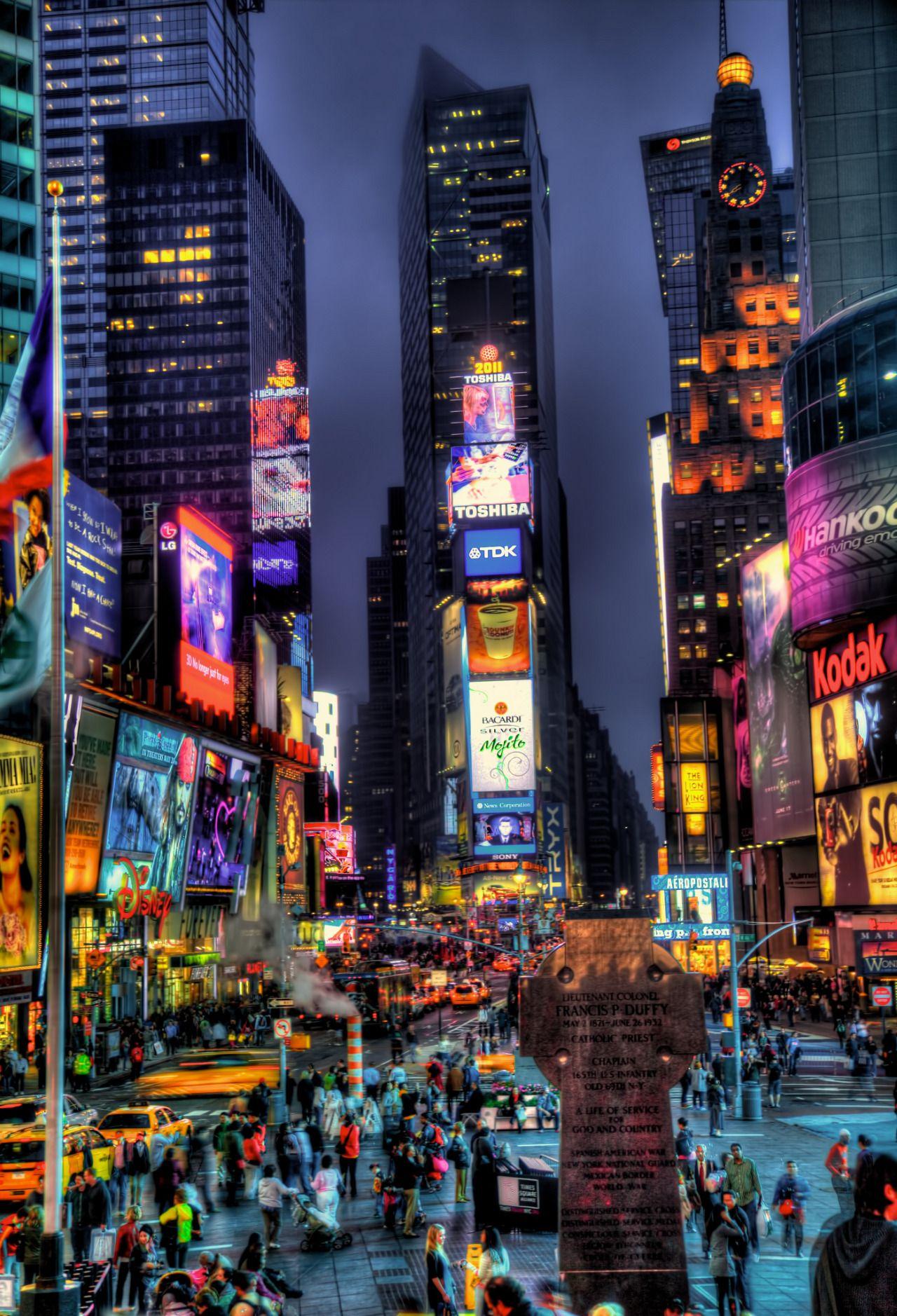 Breathtakingdestinations Times Square New York New York City At Night Night City