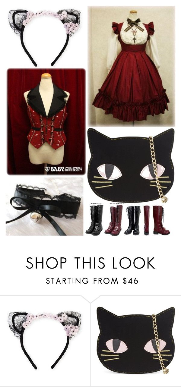 """""""27: Animal: Lolita Fashion 50"""" by limerick-riddle ❤ liked on Polyvore featuring MAISON MICHEL PARIS, Skinnydip, lolita and cat"""