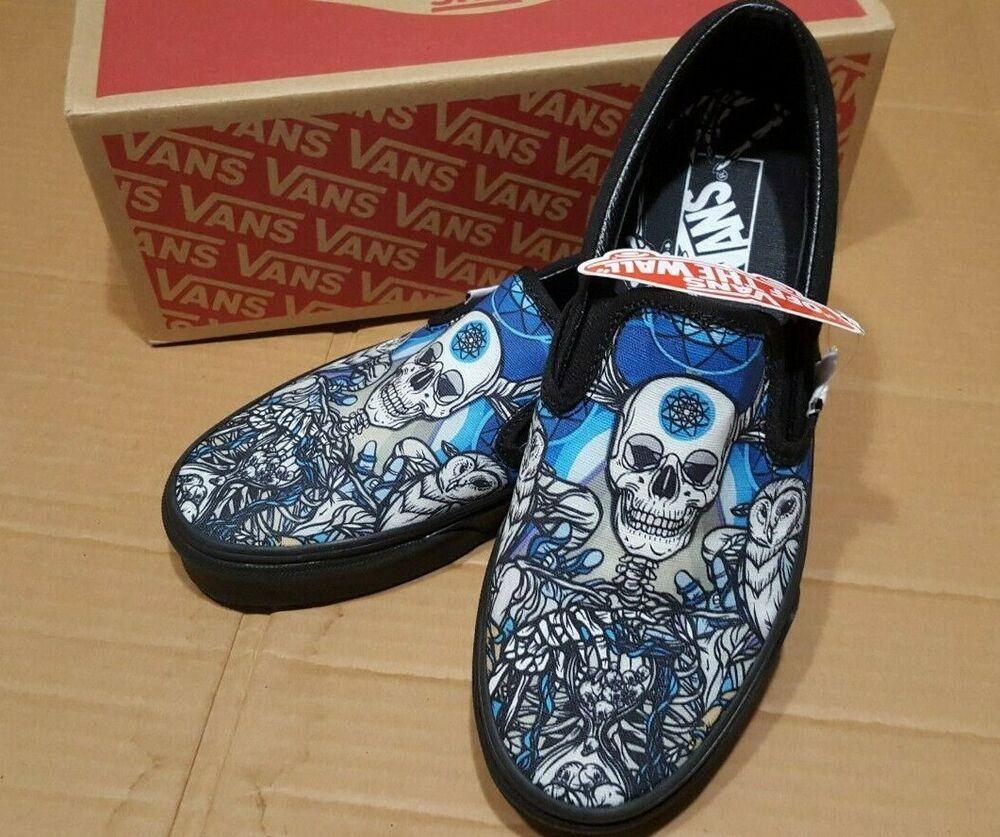 Skull Owl Mens 7 Womens 8.5 Skate Shoes