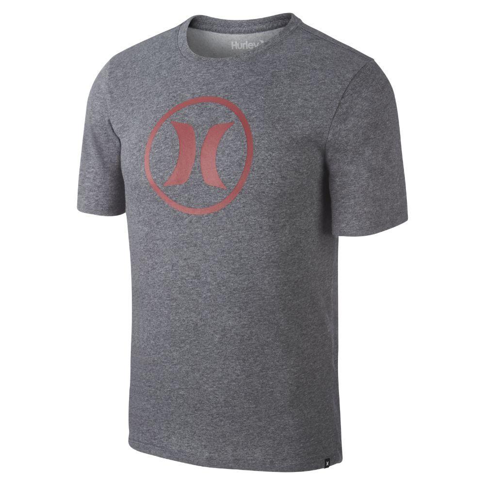 Hurley Dri-FIT Circle Icon Men's T-Shirt Size Small (Grey)