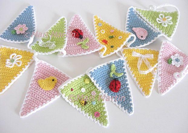 garland guirnalda crochet ganchillo
