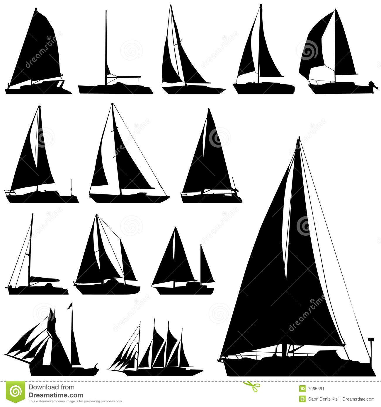 Sailing Boat Vector - Download From Over 49 Million High