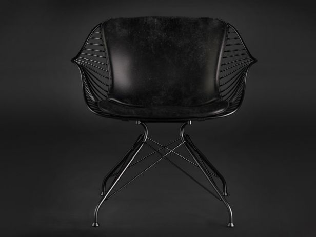 Wire lounge chair 1