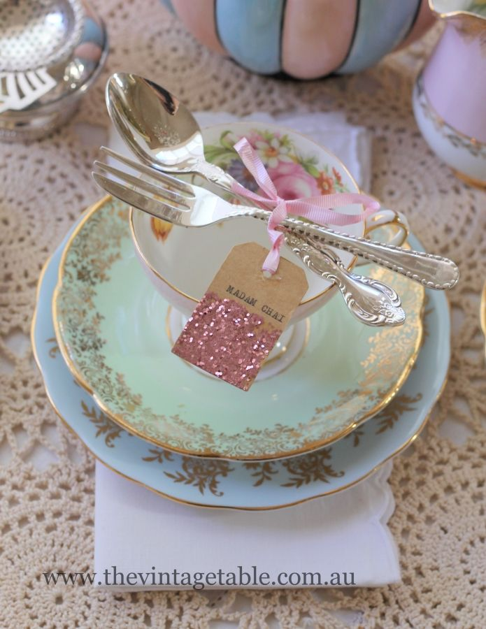 High Tea Table Settings Vintage Setting