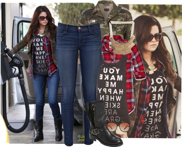 This looks cute. Selena Gomez Style.