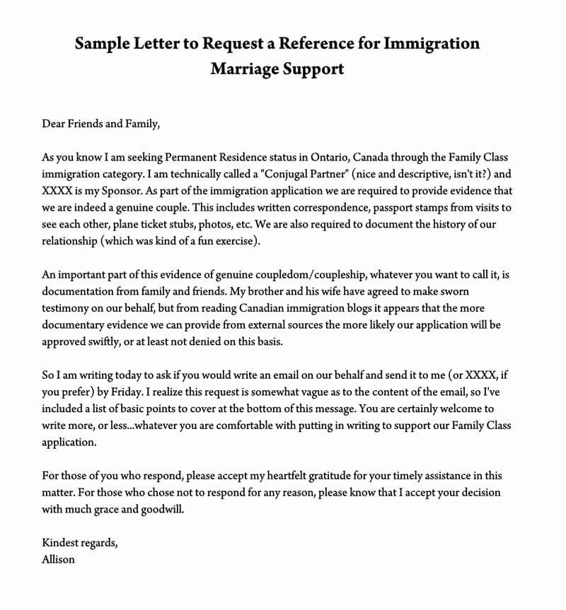 40 Support Letter Sample For Immigration Support Letter Letter