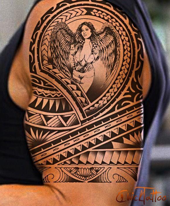 Custom Maori Tattoo Designs: Tribal Shoulder Tattoos, Tribal