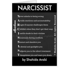 Narcissist Greeting Card