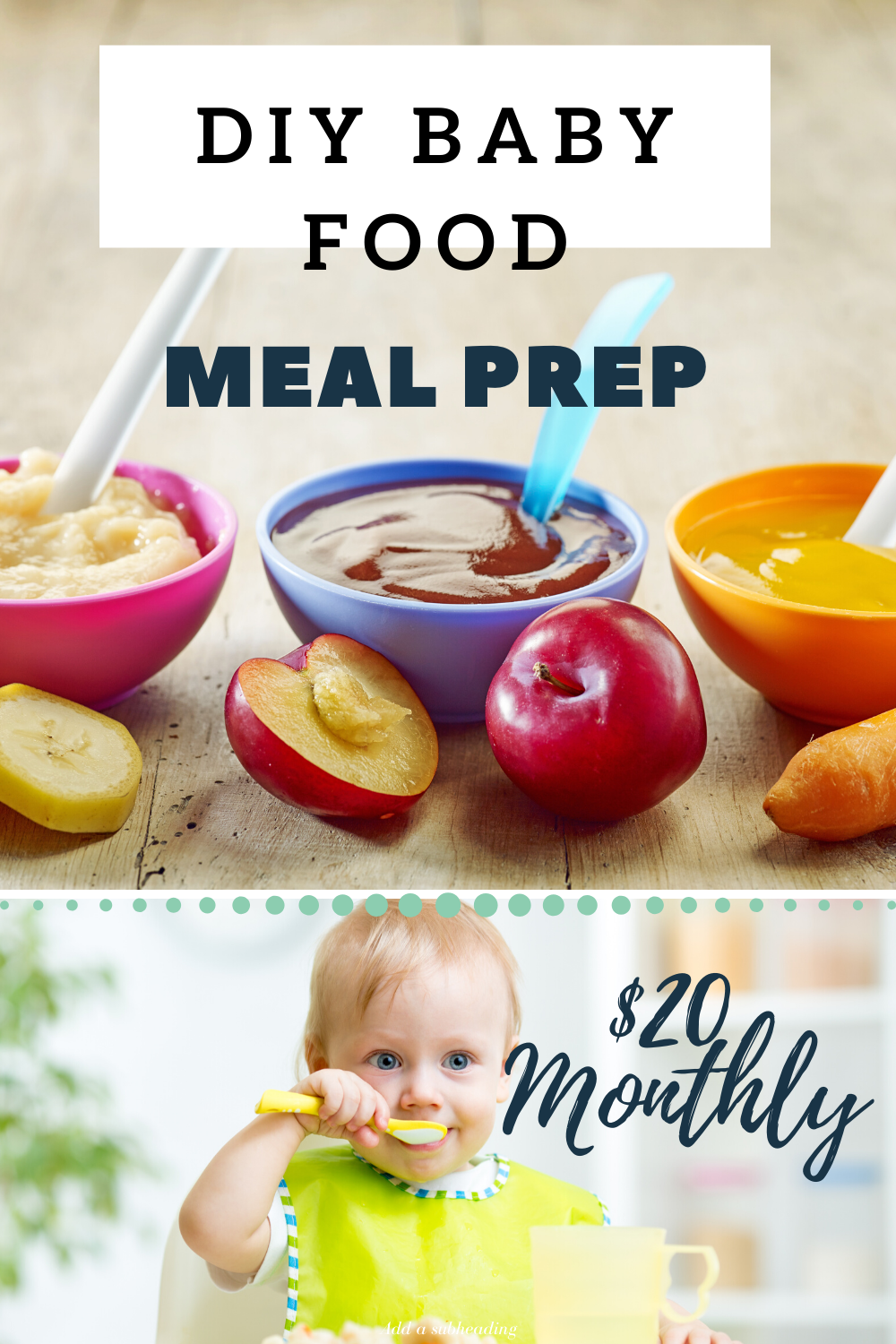 Several recipes to make a month's worth of baby food all under 20$ #babyfood #organicbabyfood #healthybabyfood #happybaby