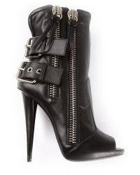 84117b9c3e7 Giuseppe Zanotti Peep Toe Biker Boots black - Lyst