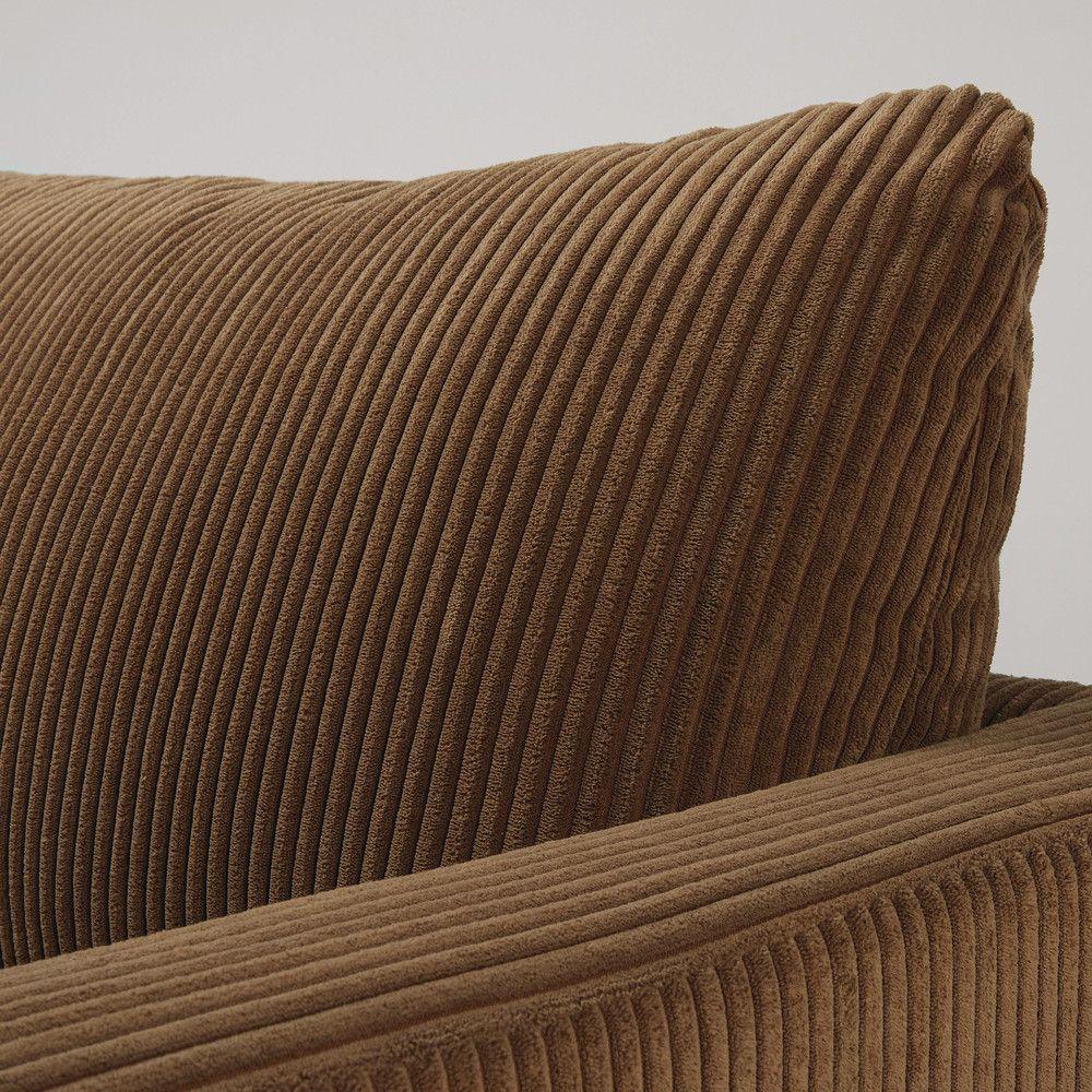 Canapé En Velours Cotelé canapé 4 places en velours côtelé marron (avec images