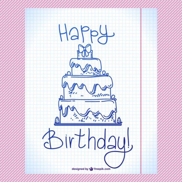 Saltaalavista Blog 50 Vectores de Plantillas para Tarjetas de - birthday cake card template