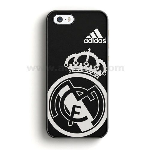 on sale 67bed c42df Real Madrid Fc Jersey Black Adidas iPhone SE Case | Aneend.com ...