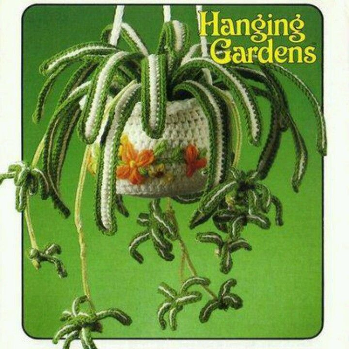 crocheted spider plant- I probably will never crochet one of these ...