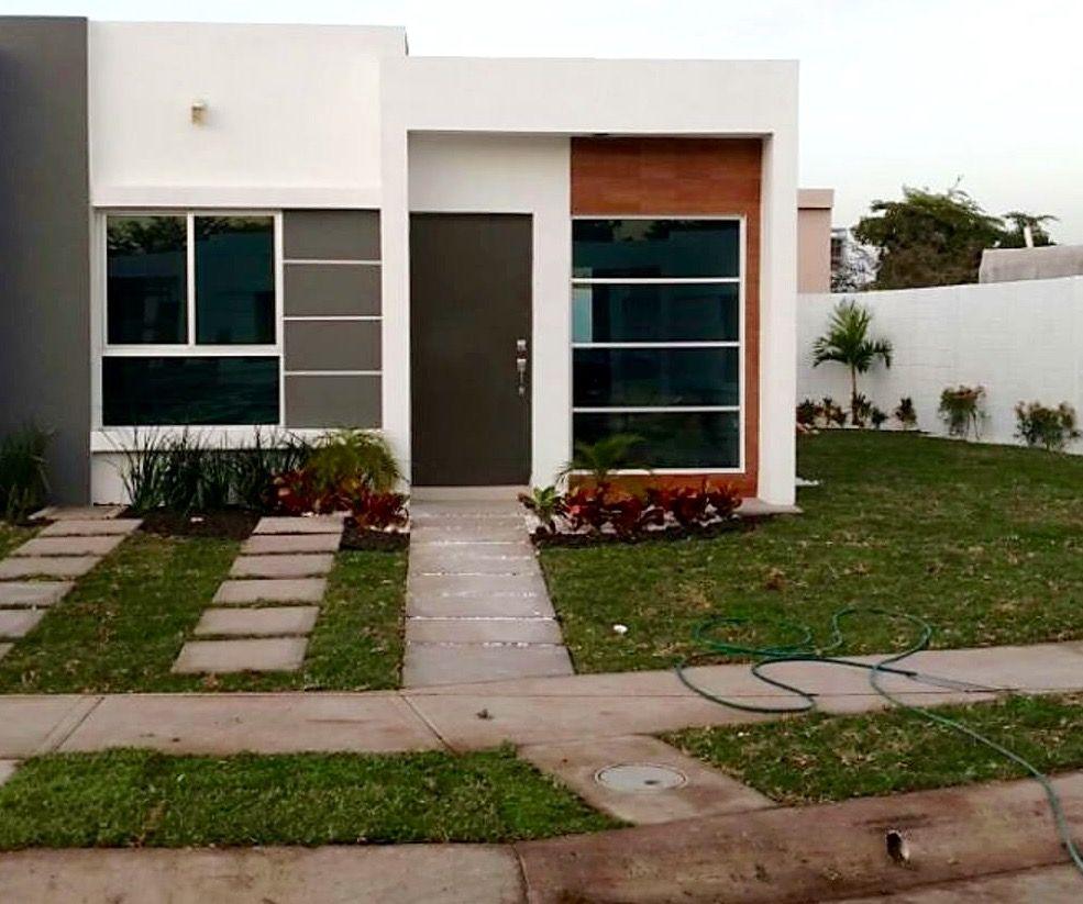 Casa chica infonavit fachadas de casa pinterest for Fachadas de departamentos pequenos