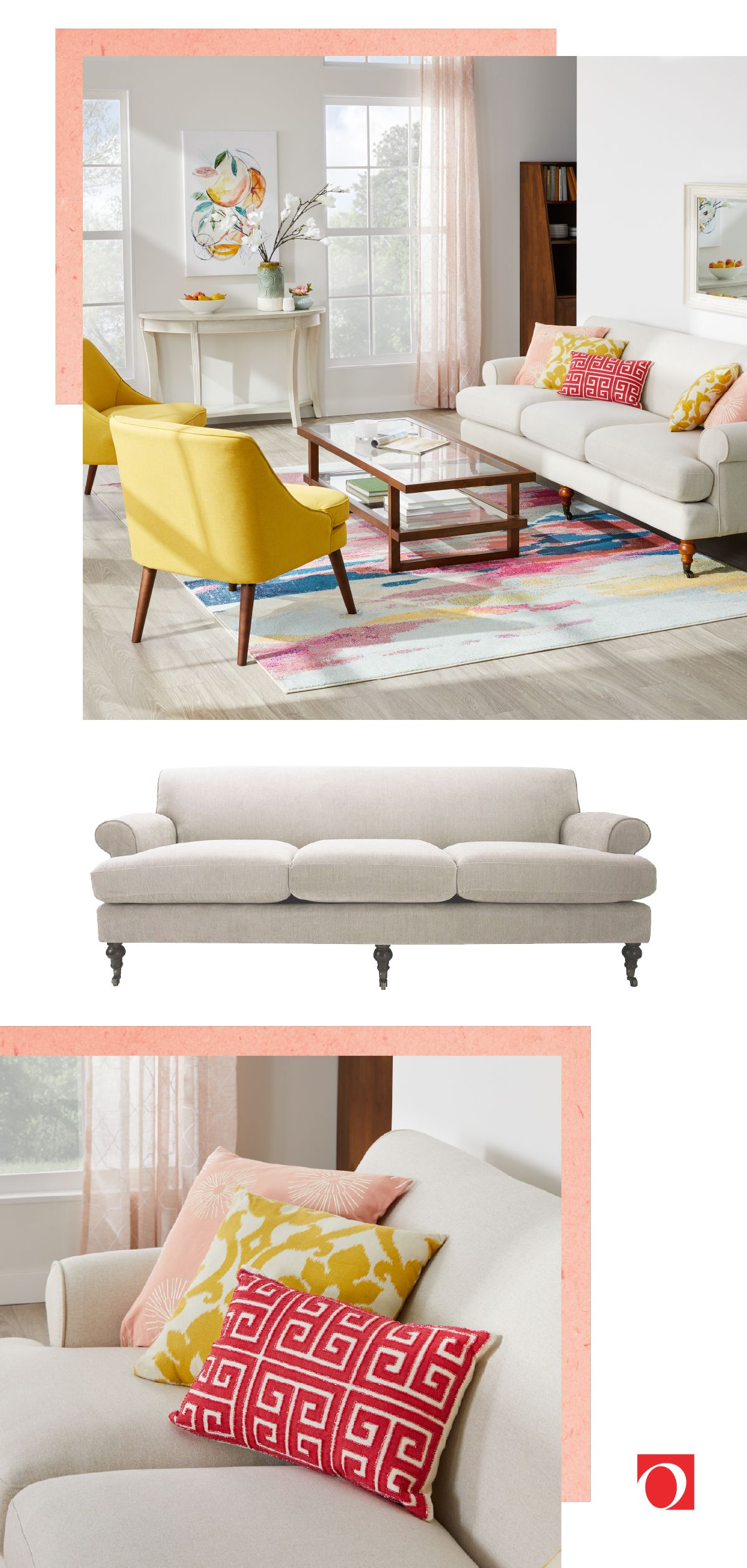 Alana Lawson Sofa With Casters By Jennifer Taylor Home In 2020