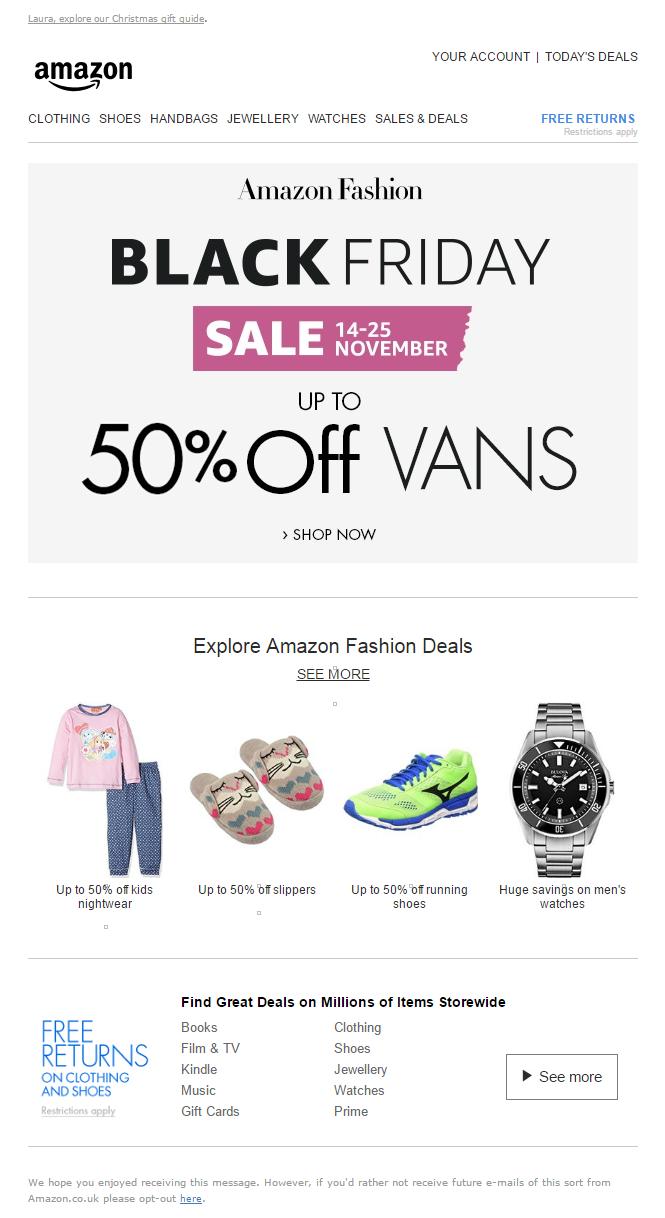 Amazon Black Friday Sale Email Emailmarketing Email Marketing Amazon Blackfriday Sale Black Friday Email Amazon Black Friday Black Friday Sale Email